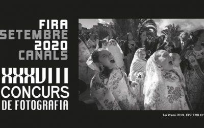 """Convocatòria del XXXVIII Concurs de Fotografia """"Fira de Setembre 2020"""" de Canals"""