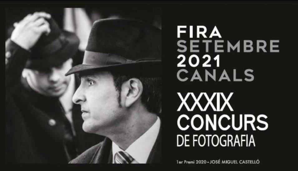 """Convocatòria del XXXIX Concurs de Fotografia """"Fira de Setembre 2021"""" de Canals"""