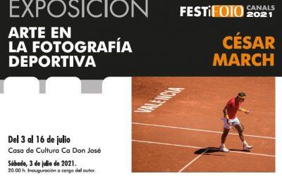 FESTiFOTO 2021. CÉSAR MARCH. Exposición el arte en la fotografia deportiva